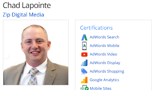 Certifies Google Partner